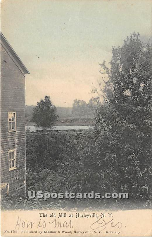 The Old Mill - Hurleyville, New York NY Postcard