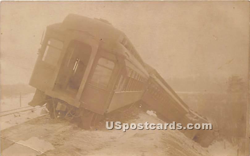 Train Wreck O & W - Hurleyville, New York NY Postcard