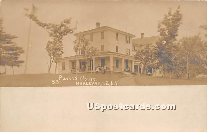 Puruis House - Hurleyville, New York NY Postcard