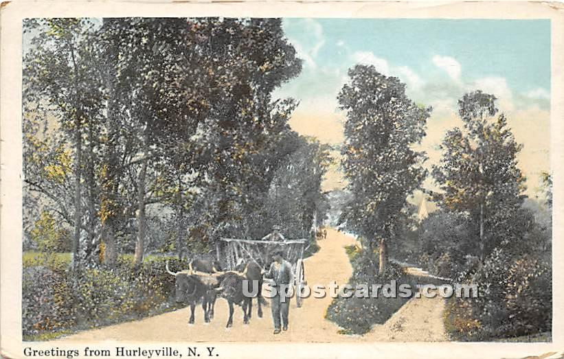Greetings from - Hurleyville, New York NY Postcard