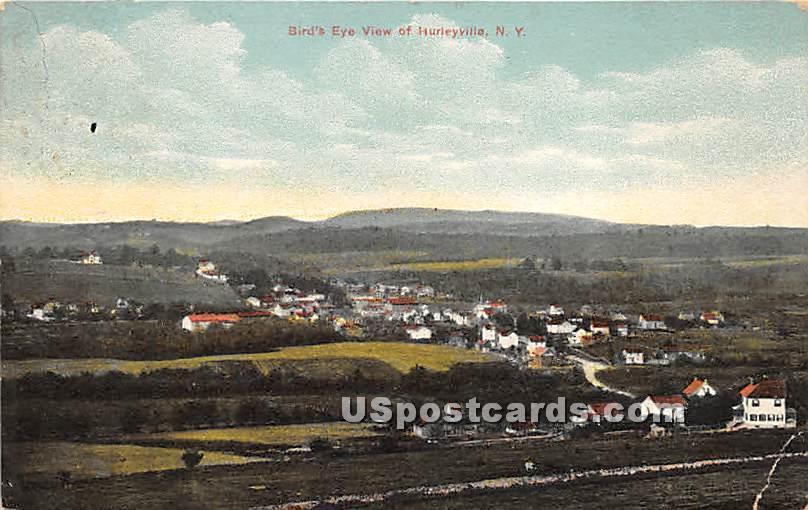 Birds Eye View - Hurleyville, New York NY Postcard