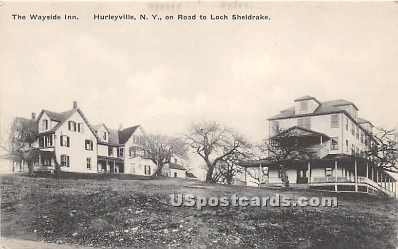 The Wayside Inn - Hurleyville, New York NY Postcard