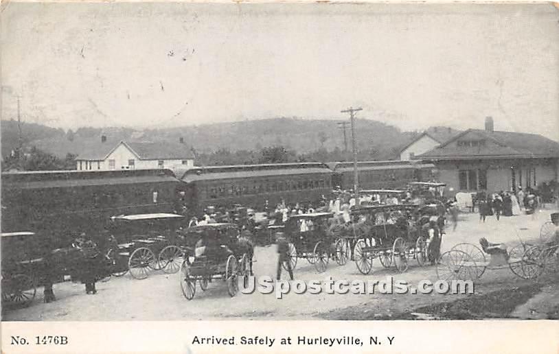 Arrived Safely - Hurleyville, New York NY Postcard