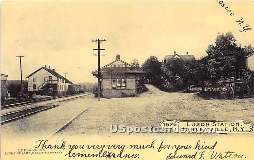 Luzon Station - Hurleyville, New York NY Postcard
