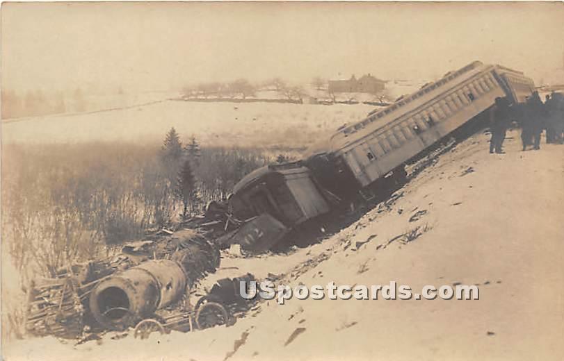 Train Wreck - Hurleyville, New York NY Postcard