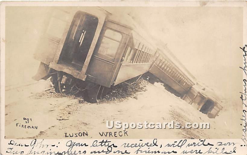 Luzon Wreck - Hurleyville, New York NY Postcard