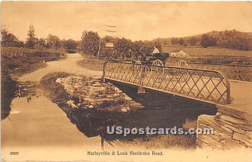 Hurleyville & Loch Sheldrake Road - New York NY Postcard