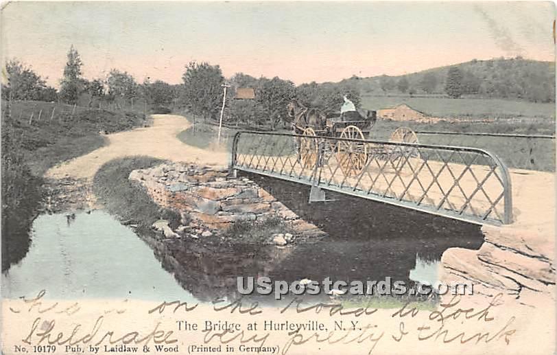 The Bridge - Hurleyville, New York NY Postcard