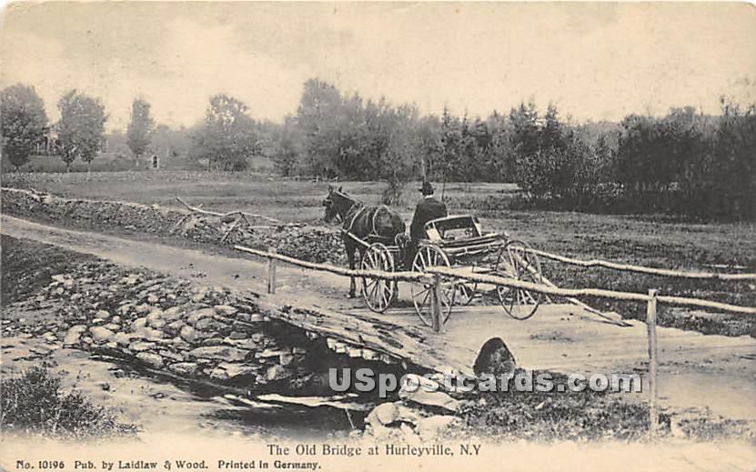 The Old Bridge - Hurleyville, New York NY Postcard