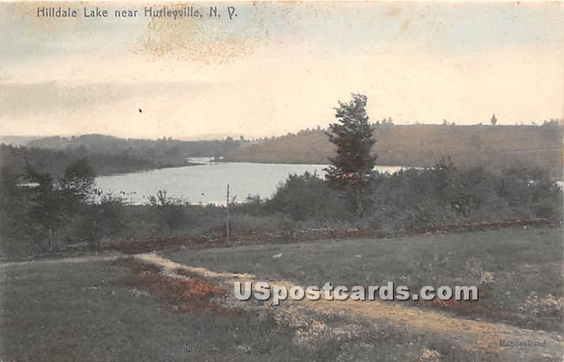 Hilldale Lake - Hurleyville, New York NY Postcard