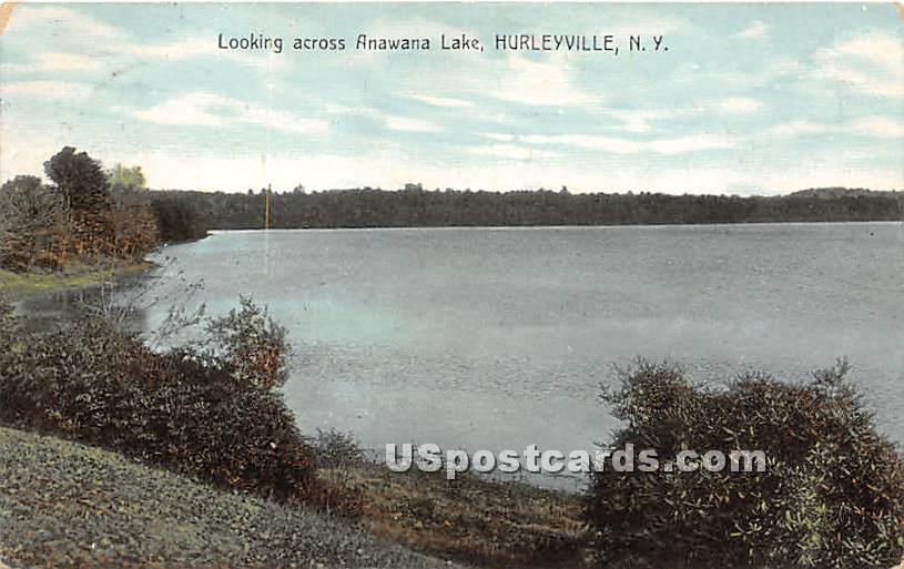 Looking across Anawana Lake - Hurleyville, New York NY Postcard