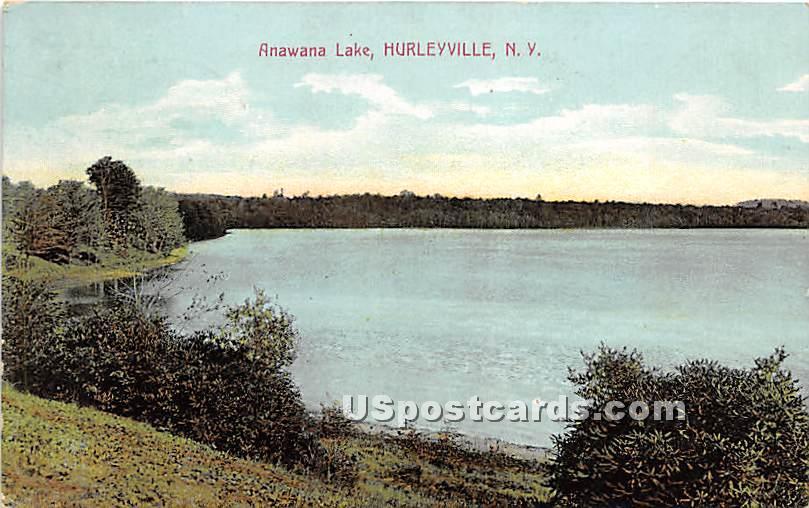 Anawana Lake - Hurleyville, New York NY Postcard