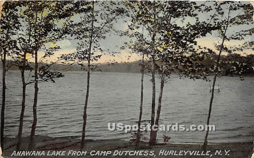 Anawana Lake from Cap Dutchess - Hurleyville, New York NY Postcard