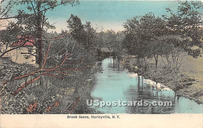 Brook Scene - Hurleyville, New York NY Postcard