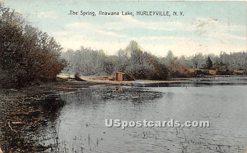 The Spring - Hurleyville, New York NY Postcard