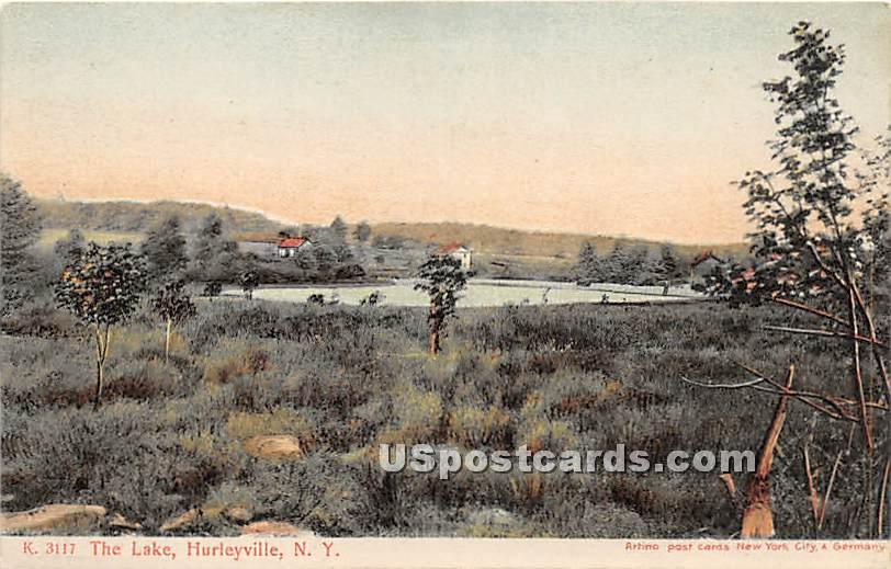 The Lake - Hurleyville, New York NY Postcard