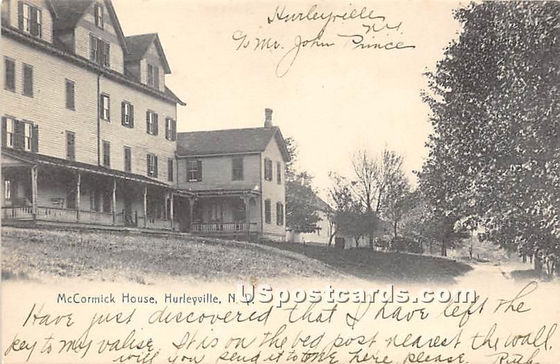 McCormick House - Hurleyville, New York NY Postcard
