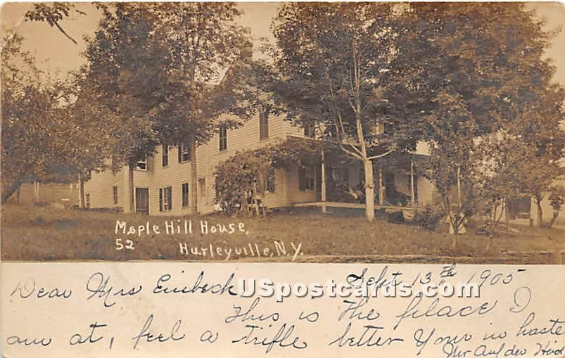 Maple Hill House - Hurleyville, New York NY Postcard
