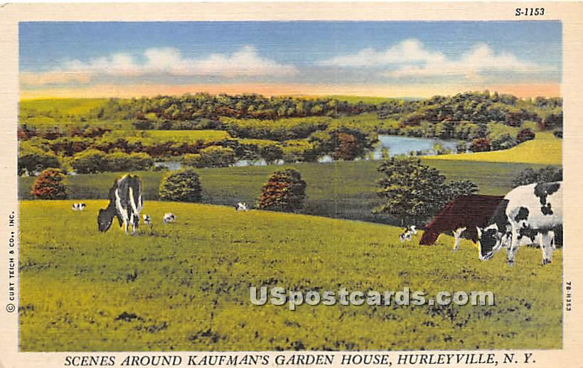 Kaufman's Garden House - Hurleyville, New York NY Postcard
