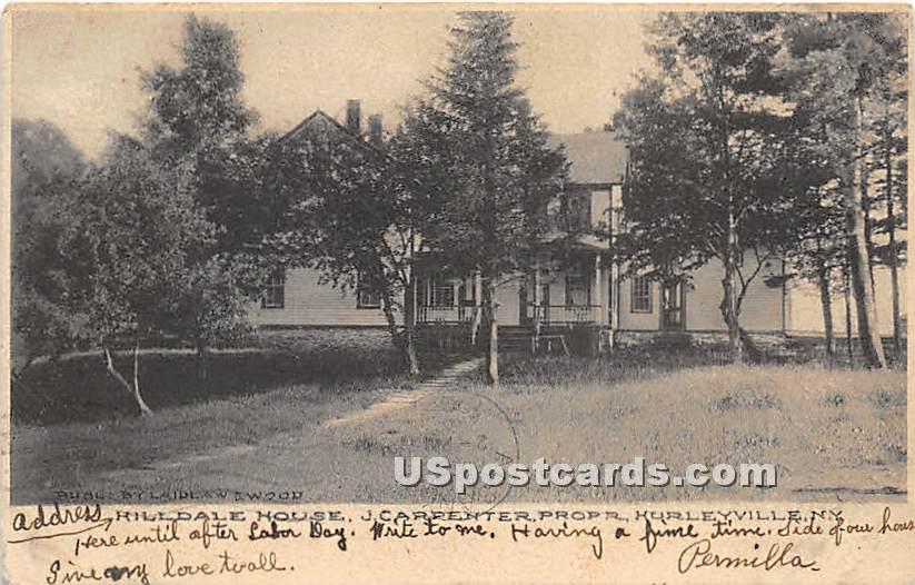 Hilldale House - Hurleyville, New York NY Postcard