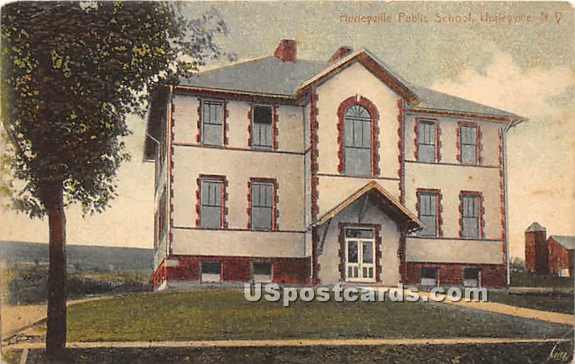 Hurleyville Public School - New York NY Postcard