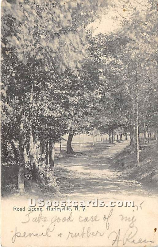 Road Scene - Hurleyville, New York NY Postcard