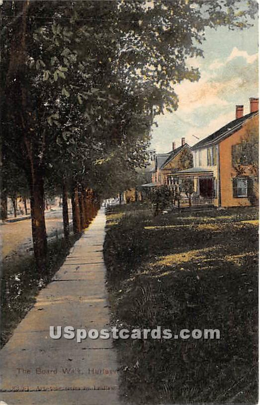 The Board Walk - Hurleyville, New York NY Postcard