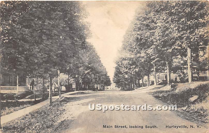 Main Street - Hurleyville, New York NY Postcard