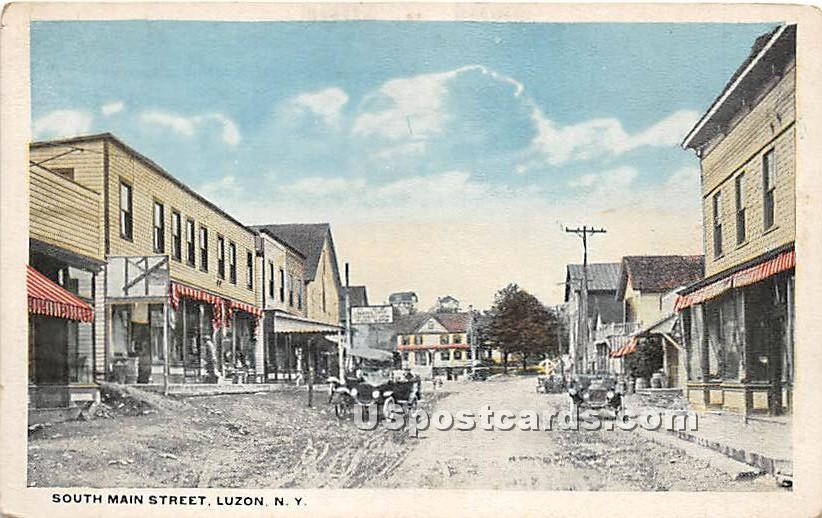 South Main Street - Hurleyville, New York NY Postcard