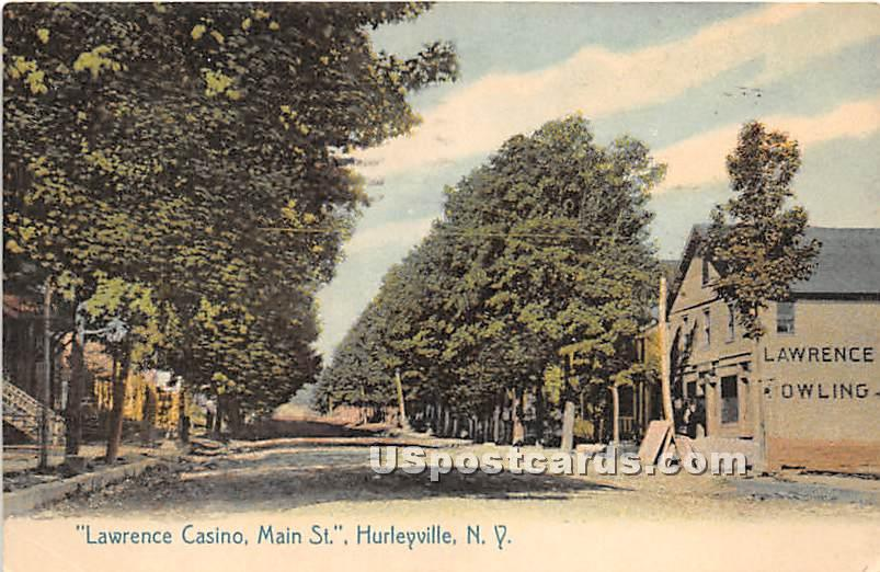 Lawrence Casino - Hurleyville, New York NY Postcard