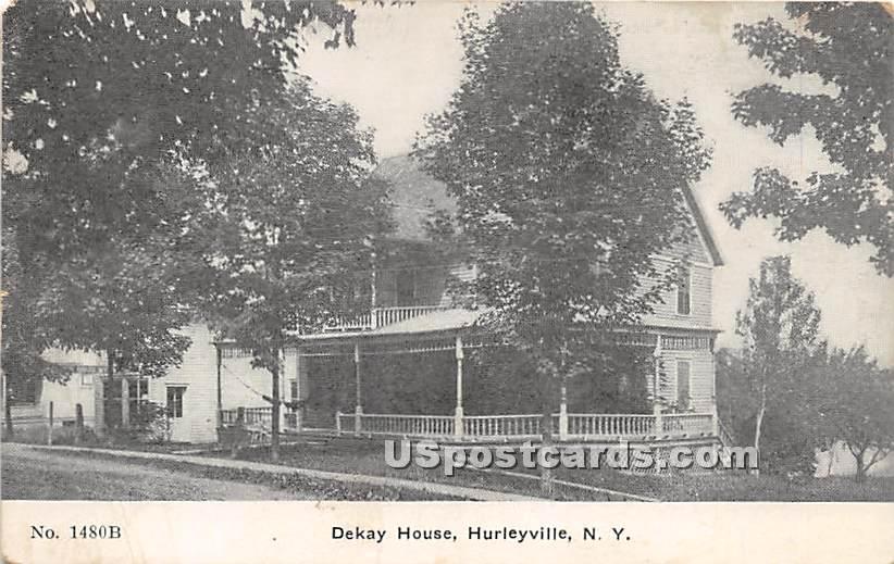 Dekay House - Hurleyville, New York NY Postcard