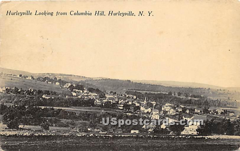 Hurleyville Looking from Columbia Hill - New York NY Postcard