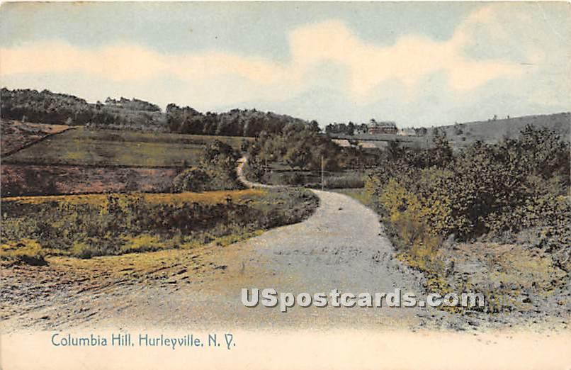 Columbia Hill - Hurleyville, New York NY Postcard