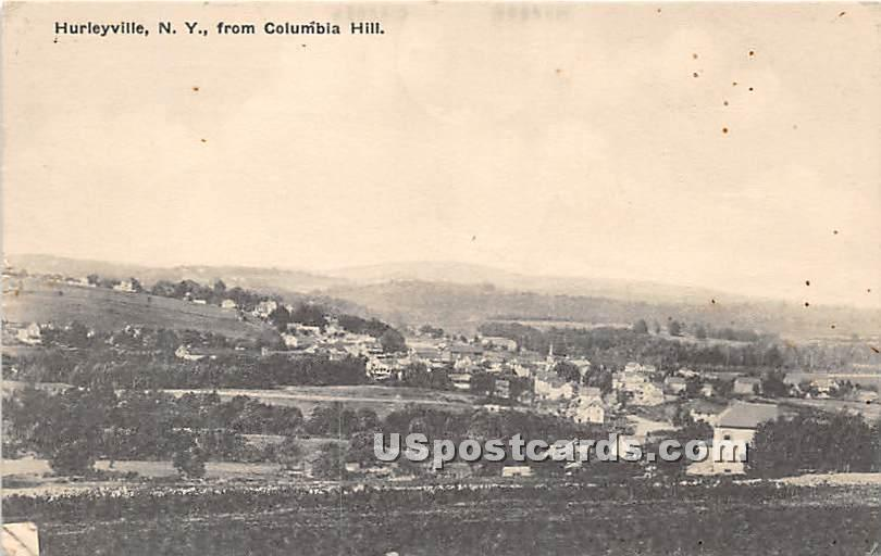 View From Columbia Hill - Hurleyville, New York NY Postcard