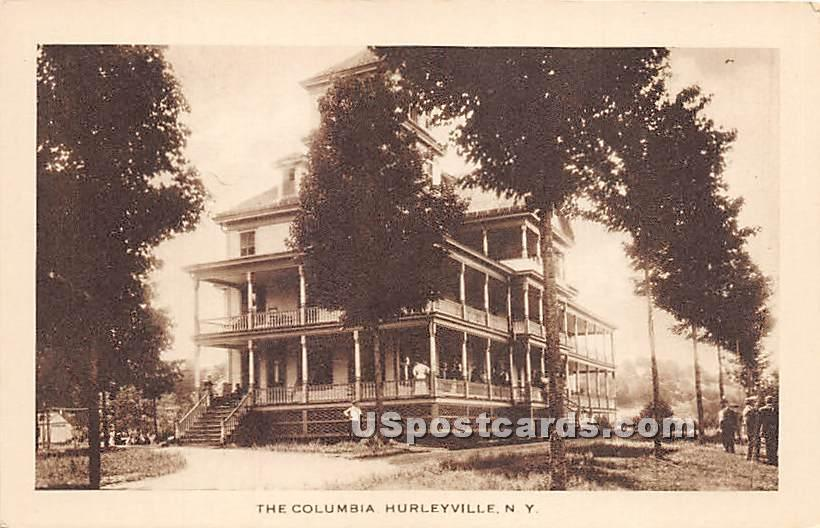 The Columbia - Hurleyville, New York NY Postcard