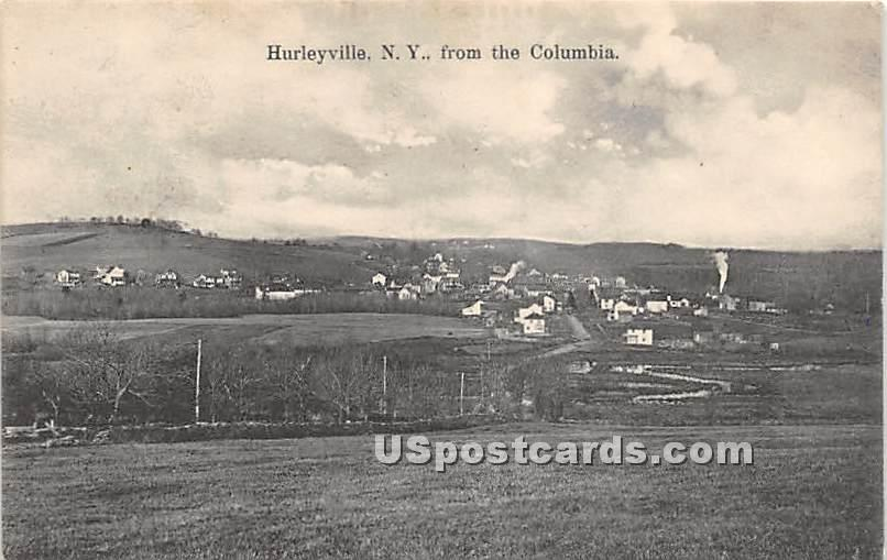View from the Columbia - Hurleyville, New York NY Postcard