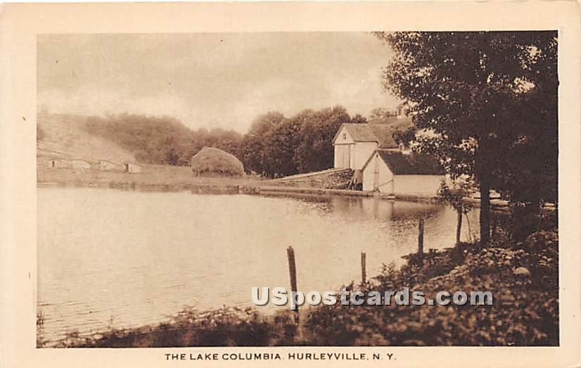 The Lake Columbia - Hurleyville, New York NY Postcard