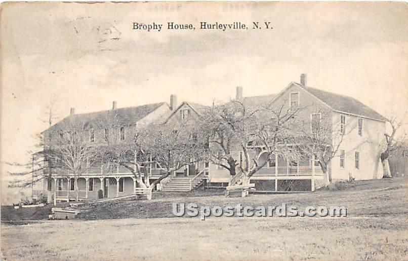 Brophy House - Hurleyville, New York NY Postcard