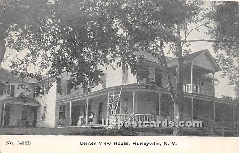 Center View House - Hurleyville, New York NY Postcard