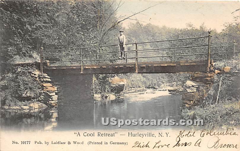 Cool Retreat - Hurleyville, New York NY Postcard