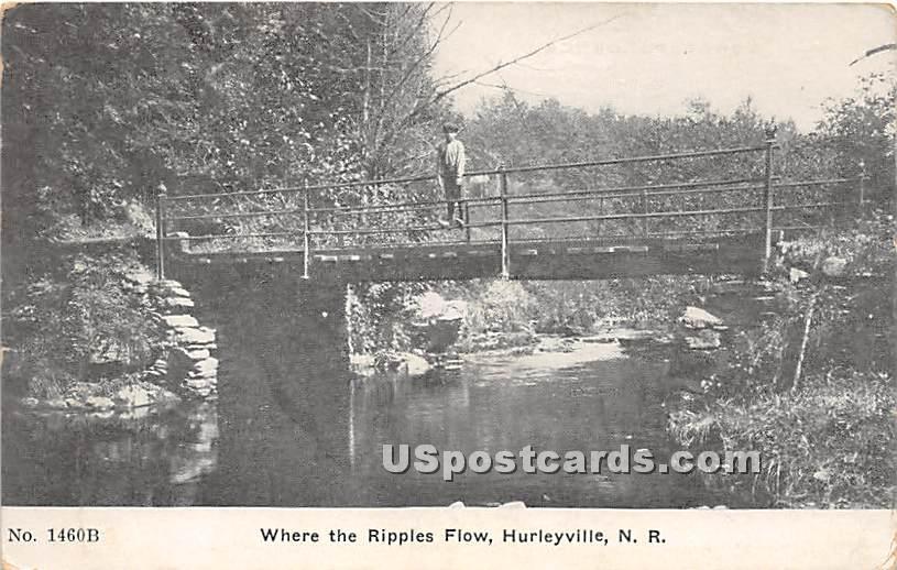 Ripples Flow - Hurleyville, New York NY Postcard