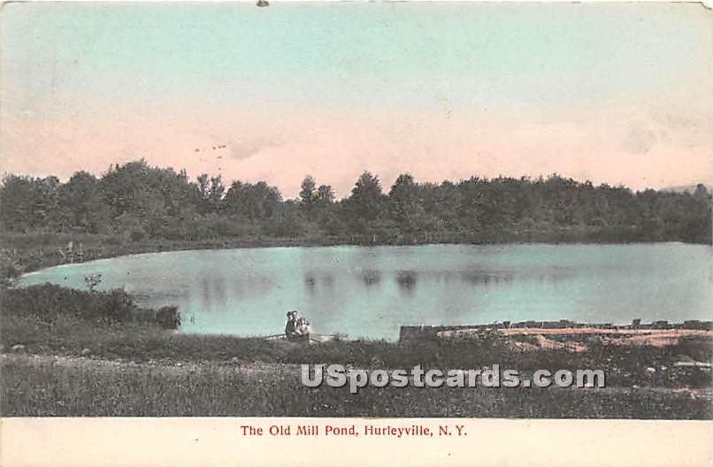 Old Mill Pond - Hurleyville, New York NY Postcard