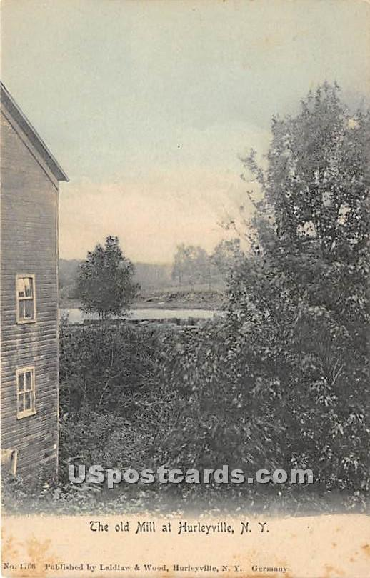 Odl Mill - Hurleyville, New York NY Postcard