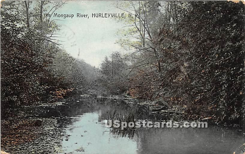 Mongaup River - Hurleyville, New York NY Postcard