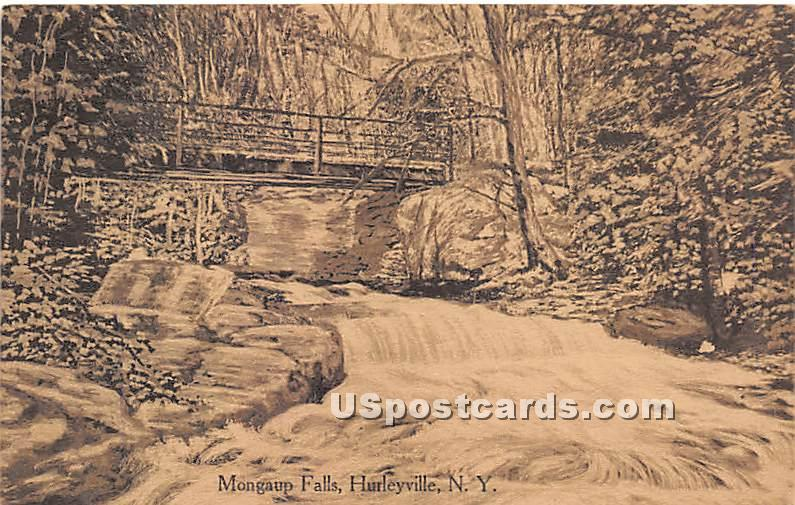 Mongaup Falls - Hurleyville, New York NY Postcard