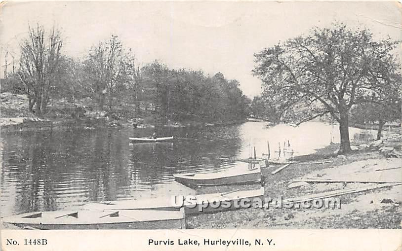 Purvis Lake - Hurleyville, New York NY Postcard