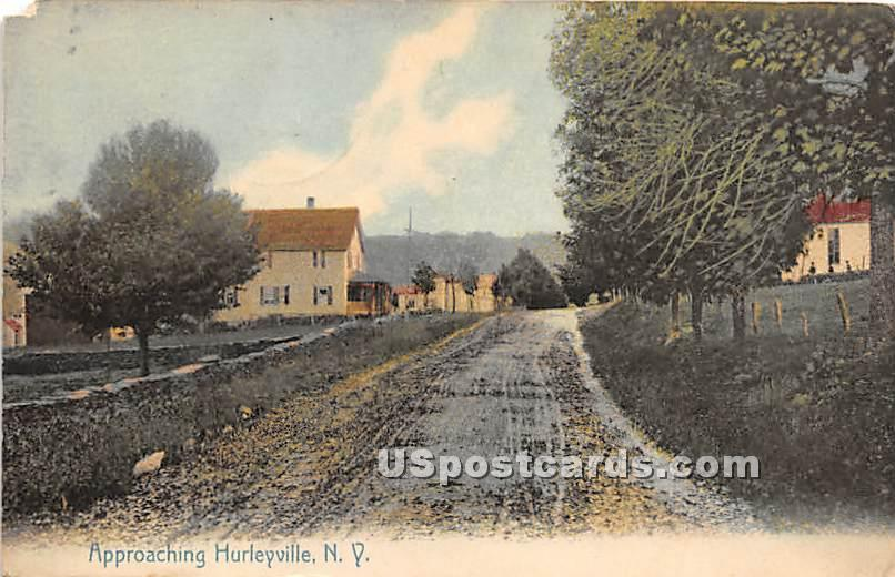 Approaching - Hurleyville, New York NY Postcard