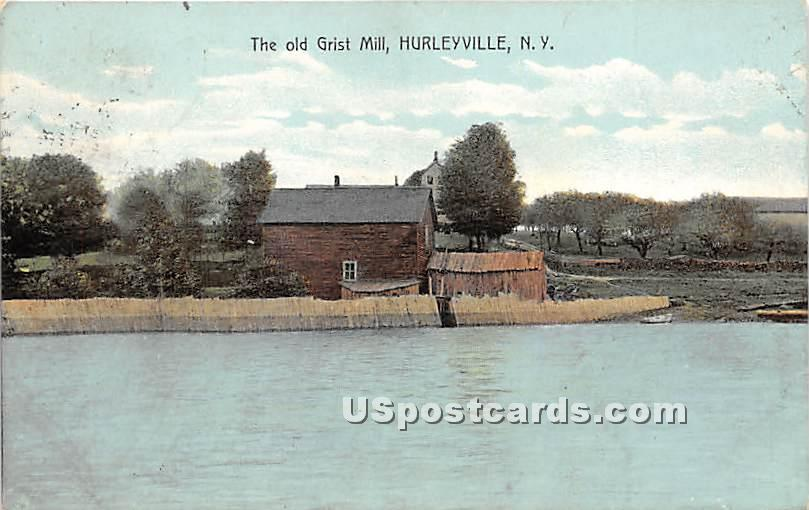 The Old Grist Mill - Hurleyville, New York NY Postcard