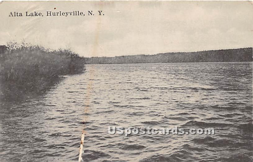 Alta Lake - Hurleyville, New York NY Postcard