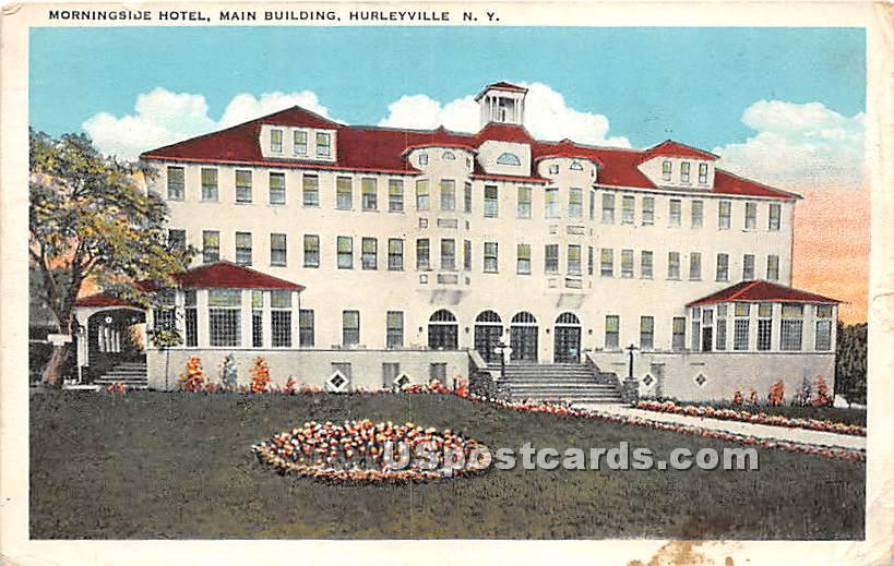 Morningside HOtel - Hurleyville, New York NY Postcard